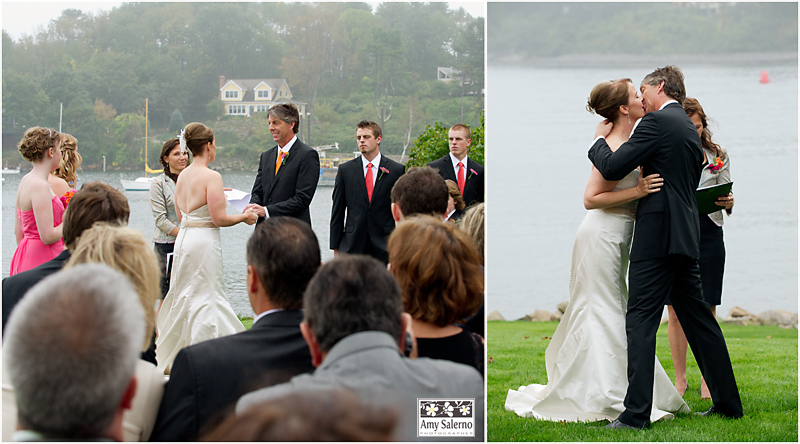 outdoor wedding ceremony at Dockside Guest Quarters in York, Maine