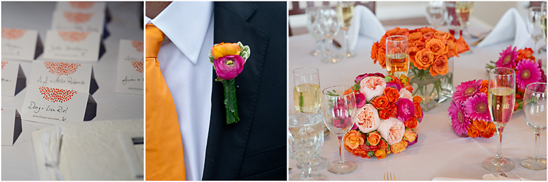 Dockside Guest Quarters wedding reception details by something in bloom